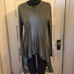 Flowing Olive green top